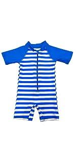 Aschlop Sun suit baby boy baby girl sunsuit swim suit blue