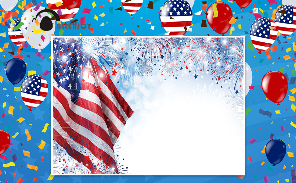 Allenjoy 7x5ft Independence Day Photography Backdrop Bokeh Spots Fireworks US Flag Portrait Background Patriotic 4th of July National Veterans Day Banner Photo Studio Booth