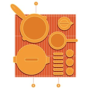 Open Design allows for use of pots and pans on the grill grates