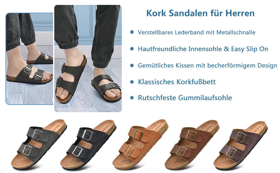 male slide sandals