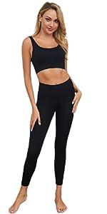 donna tuta uomo palestra pantaloni fitness abbigliamento pantaloncini da leggins completo running