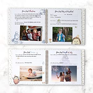 memory book journal gift gifts newborn parent parents mom dad keepsake diary photo books baby girl