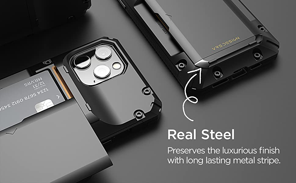 apple iphone 12 pro max case wallet damda glide pro with metal bar