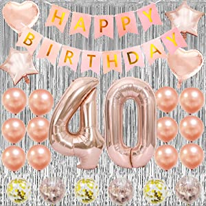 Cheers to 40 Years nuoshen 40th Birthday Decorations,40th Wedding Anniversary Decorations Glittery Golden Anniversary Decorations 40th Birthday Wedding Decorations