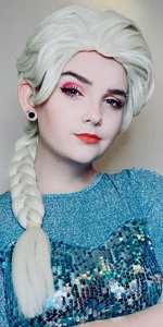 princess elsa wig blonde