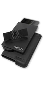 fidelo minimalist wallet for men best pop up aluminum slim rfid metal credit card holder money clip