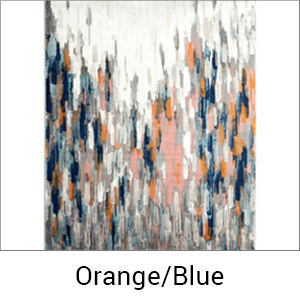 Abani Rugs Porto 140 Orange/Blue Area rug
