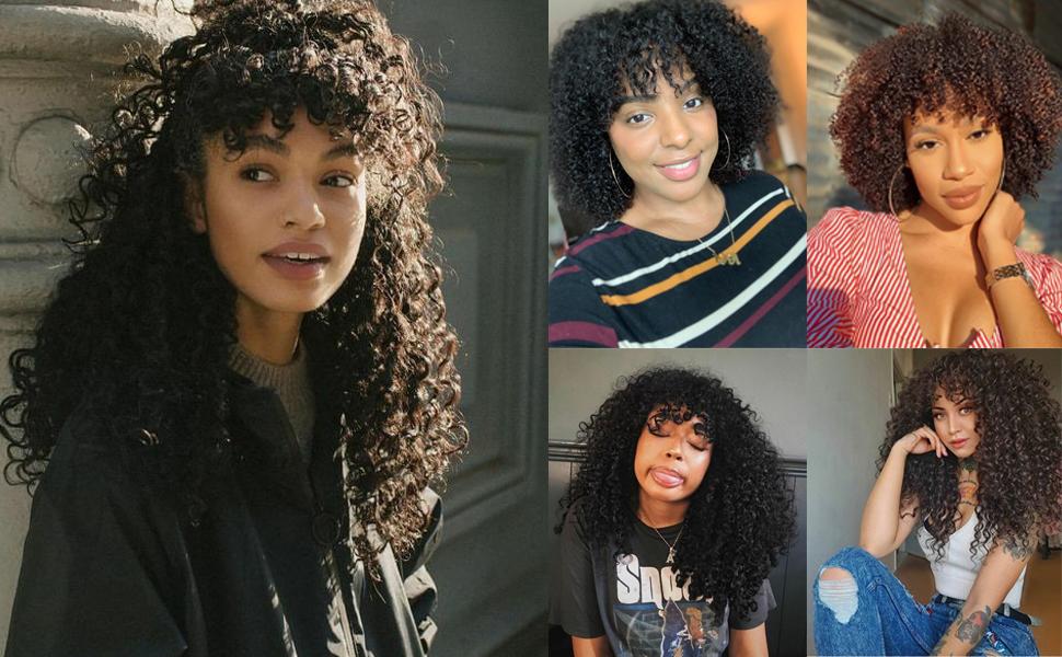 non lace wigs human hair bob wig with bangs