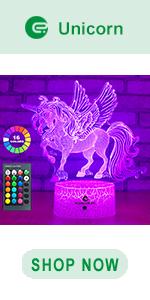 easuntec unicorn 3d led illusion lamp