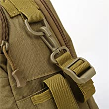 The multiple resin hooks on the fishing backpack can also meet your additional needs.