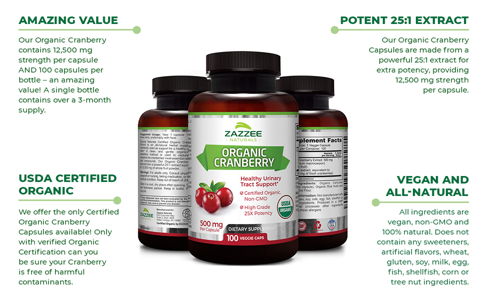 Amazing Value, USDA Certified Organic, Potent 25:1 Extract, Vegan and All-Natural.
