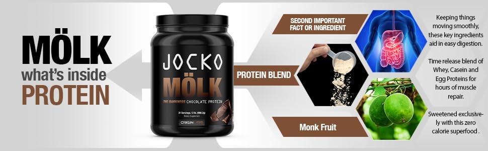 whey protein powder zero sugar monk fruit sweetener enzymes probiotics casein blend digestion
