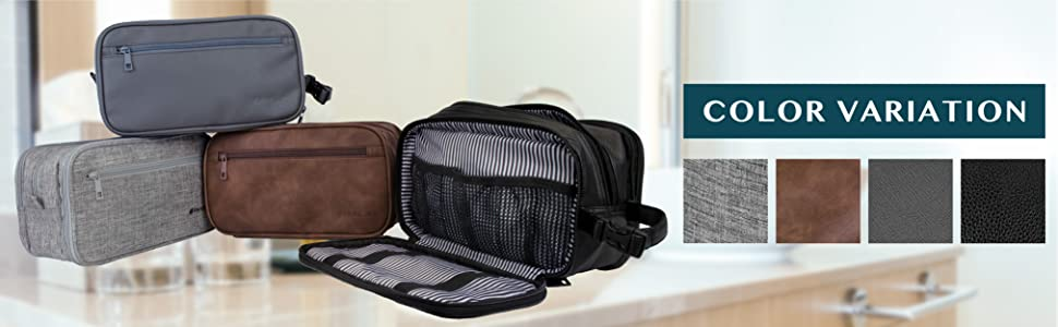 PAVILIA travel organizer toiletry bag different color variations