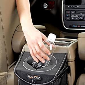 stashaway car trash can lid