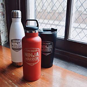 american ninja warriors tumblers water bottle tervis training workout rtic travel mug swell