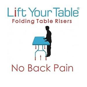 folding table risers,extenders,table lift,table extenders,table risers