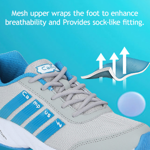 Mesh Upper Wraps the Foot to Enhance Breathability