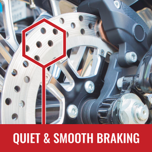 Quiet and smooth braking