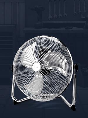 Aigostar Clover 33QNV - Ventilador industrial, 110 W, 3 velocidades, ajustable 360º, 3 aspas metálicas, 18 (46cm aprox). Motor de cobre. Diseño completo de metal cromado. Silencioso.: Amazon.es: Hogar