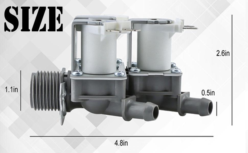 Washer Water Inlet Valve  5221ER1003A 5220FR2075L SIZE