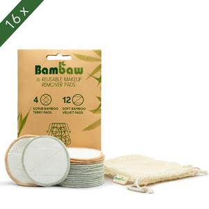Discos Desmaquillantes | 16 Discos Desmaquillantes Reutilizables | Con Bolsa de Lavado | Hechos en Fibra de Bambú | Desmaquillante Facial | Lavables | ...