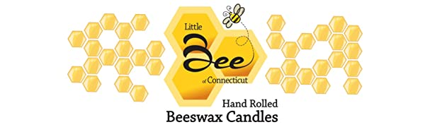 Little Bee of Connecticut Hand Rolled Beeswax Candles Tapers Pillars
