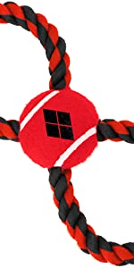 Harley Quinn Dog Toy Rope Toy