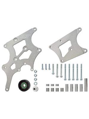 ICT Billet LS Swap Alternator and Power Steering Bracket Kit Camaro Compatible with BMW 330i E46