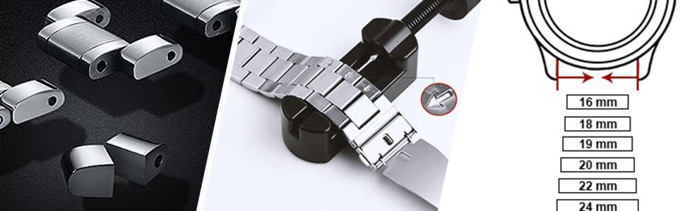 cinturino 22mm 20mm 18mm 24mm 19mm 16mm