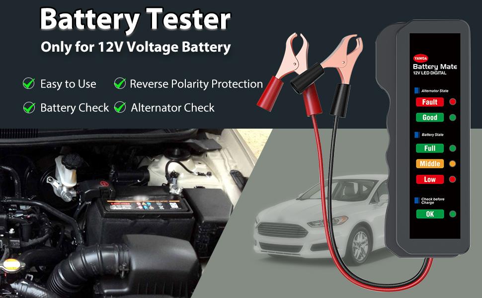 Car battery tester 12V