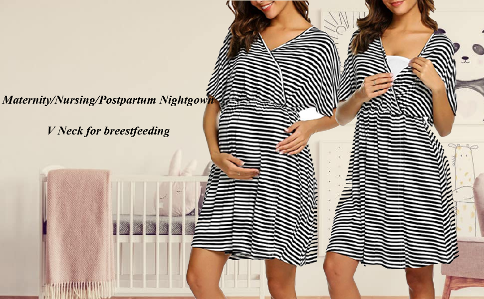 Nursing Delivery Labor Nightgown 3 in 1