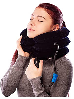 Neck Stretcher Device Pain Relief Spinal Decompression Back Spine Alignment Forward Neck Posture