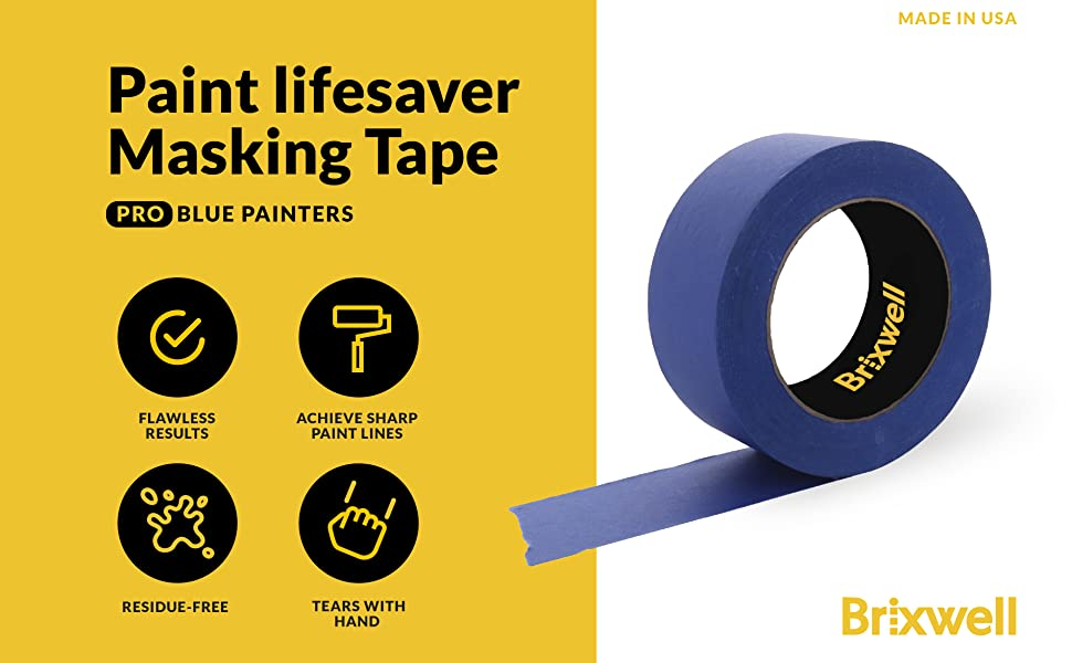 Pro Blue Painters Masking Tape Made in the USA