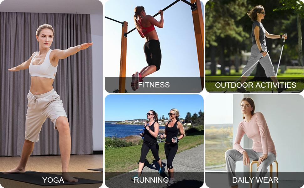 Women's Lounge Bermuda Capri Pants Active Straight Leg Yoga Workout Pants with Pockets