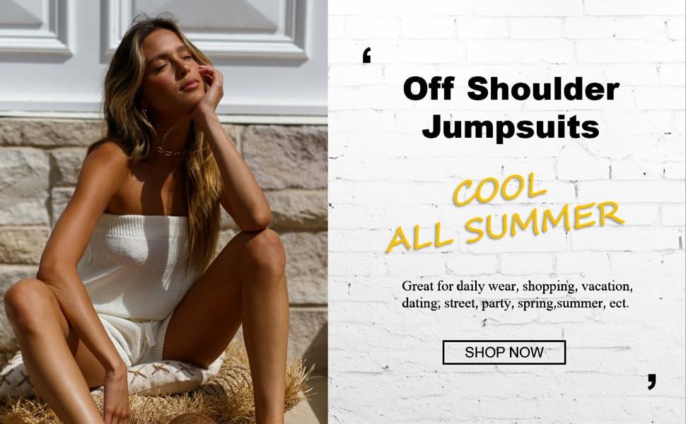off shoulder jumpsuits