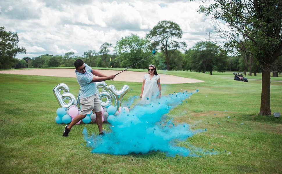 gender reveal golf balls exploding ball putters or pearls for party supplies with powder baby