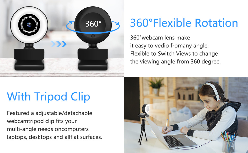 Flashandfocus.com 2a7ba966-b21d-46be-95a0-e45eb5e4b0c2.__CR0,0,970,600_PT0_SX970_V1___ Streaming HD Webcam, ITSHINY 1080P Webcam with Ring Light & Dual Microphone, USB Adjustable Brightness Web Camera for…