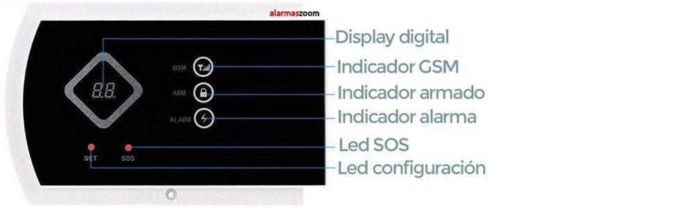 Alarma GSM Hogar inalámbrica G10A AZ016 con pantalla led y control ...