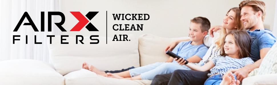 AIRX FILTERS WICKED CLEAN AIR.