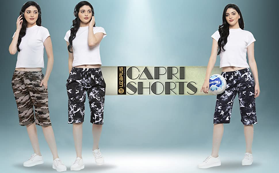 womens cotton capri shorts casual outdoor indoor lounfewear capris short womens bottomwera