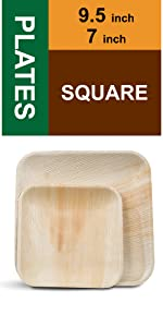 """9.5"""" and 7"""" Square Plates"""