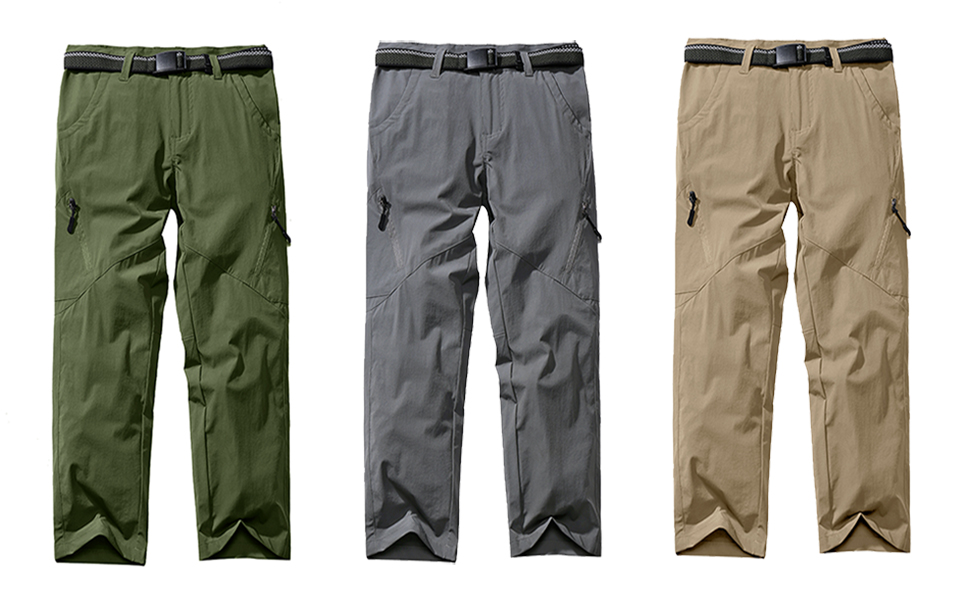 Boys Girls Scount Convertible Pants,Kids Hiking Cargo Clothing,Youth Quick Dry Waterproof Camping Trousers