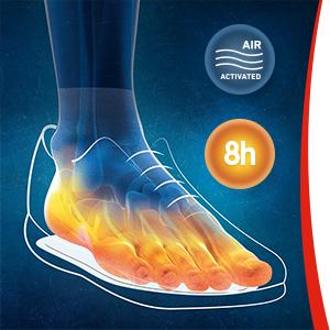 plantilla de zapatos calentadores, plantilla calentadora de pies, pies calientes, suela caliente