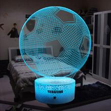soccer room decor night light soccer ball Christmas birthday gifts for boys girls men cave decor