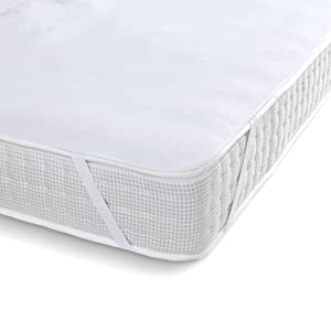 Ochraniacz na materac 90 x 200 x nakładka na materac, podkładka pod łóżko, wodoszczelna poszewka ochronna na materac