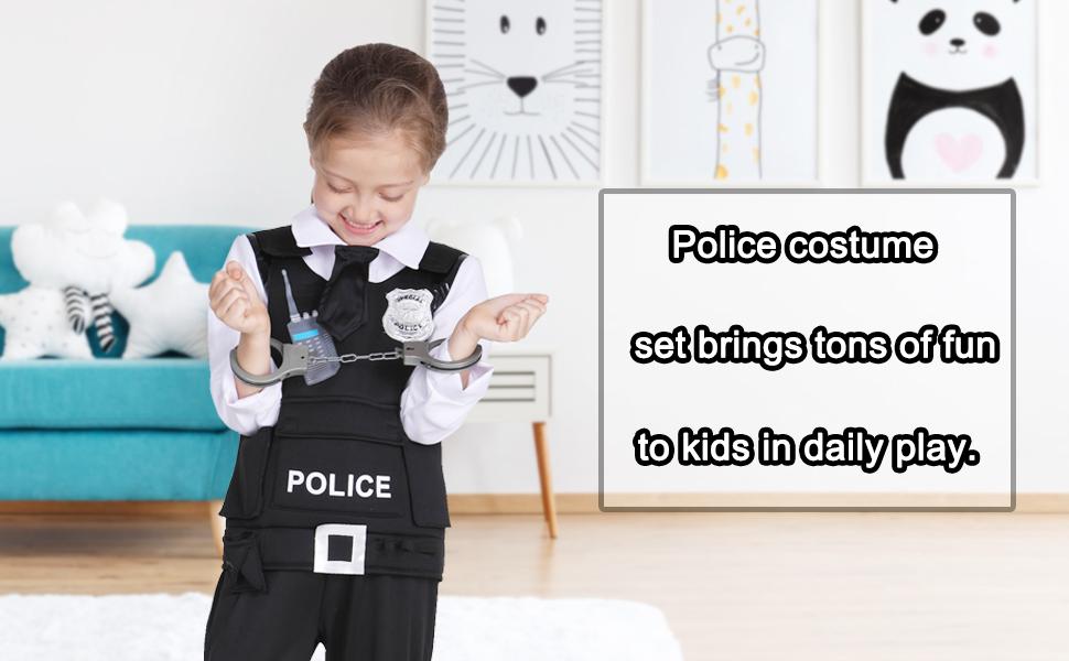 halloween police costume for kids