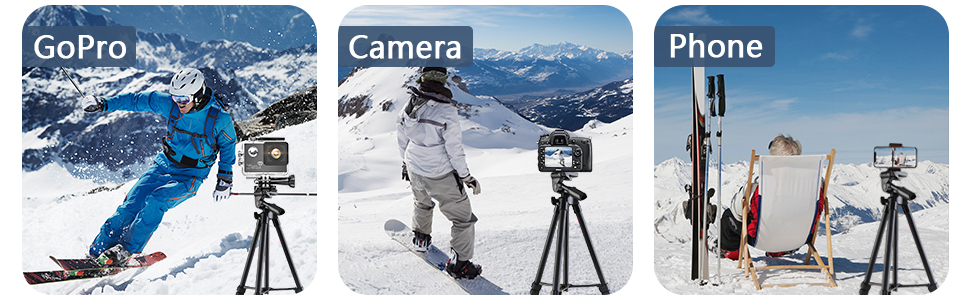 Cell Phone Tripod, Portable Tripod Stand Phone Holder Remoter Shutter Compatible with iPhone Android
