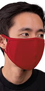 auline collection face mask red