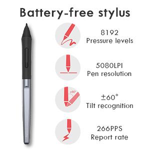 Battery-free Stylus Pen