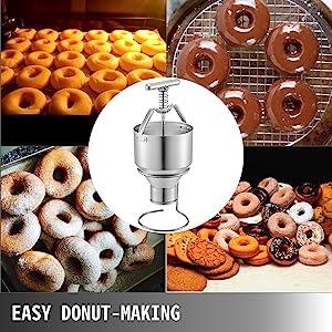FreeLeben Sweet Donuts Manufacturer Magic Rapid Plastic Donuts Machine Warf Biscuit Moule Convenant pour La Fabrication de G/âteaux Bagels